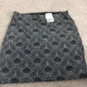 Brand new black and silver sparkled skirt